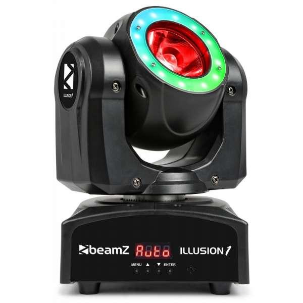 BeamZ Illusion 1 Moving Head LED Beam mit LED Ring