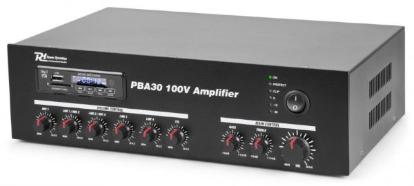 Power Dynamics PBA30 100V Verstärker mit USB / MP3 / BT