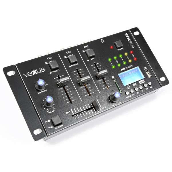 Vexus STM3030 4-Kanal Mixer USB/MP3/BT/REC