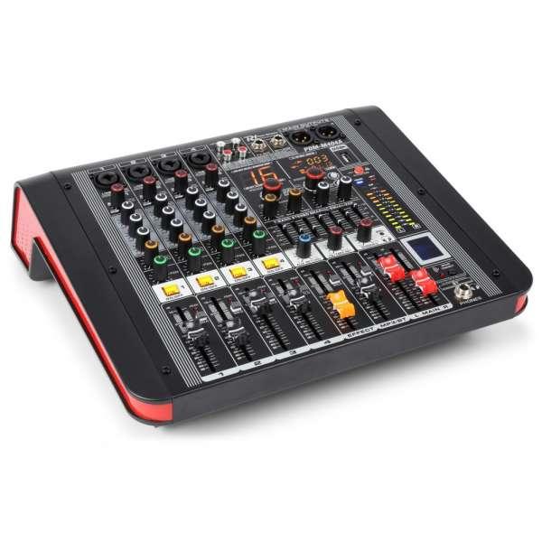 Power Dynamics PDM-M404A 4-Kanal Musik Mixer mit Verstärker