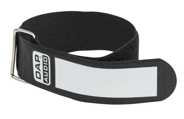 DAP-Audio Snap Fastener Kabelklettbänder mit Metallring - schwarz - breit