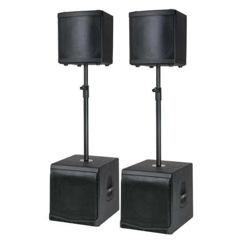 DAP-Audio DLM speakerset incl. poles (DLM-12A + DLM-12SA)
