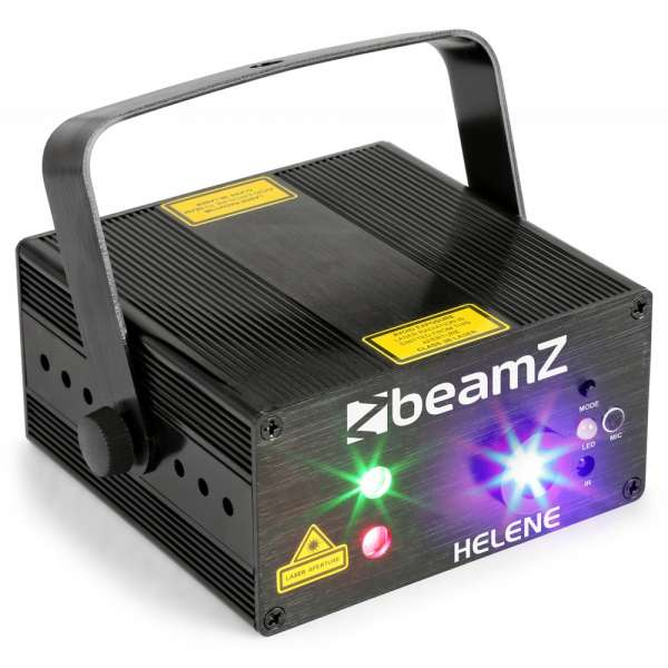 BeamZ Helene Double Laser RG Multipoint IRC 3W Blue LED