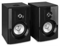 """Fenton SHF404B aktives 4"""" Hifi Regal-Lautsprecher Set mit Bluetooth und USB Media-Player Schwarz"""