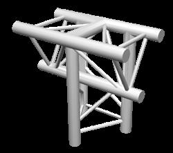 ExpoTruss X3K-30 Alu 3-Punkt 3-Weg T-Stück vertikal Spitze unte