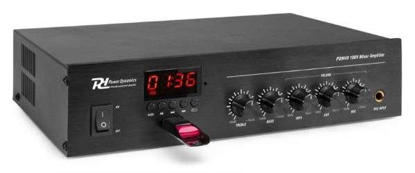 Power Dynamics PDM45 100V Verstärker mit Mixer / Bluetooth / Mediaplayer