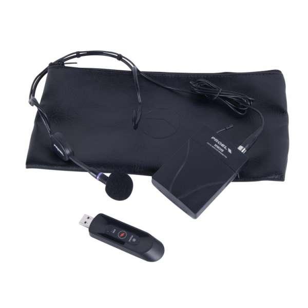 Proel U24B USB Beltpack-Funkmikrofon mit Headset