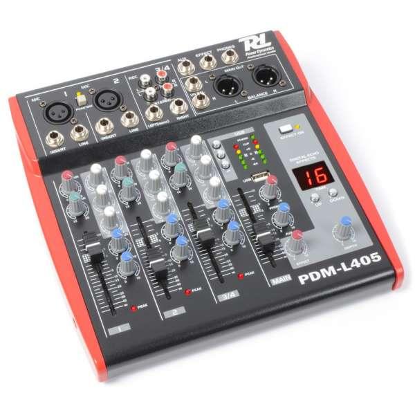 Power Dynamics PDM-L405 Musik Mixer 4-Kanal MP3/ECHO