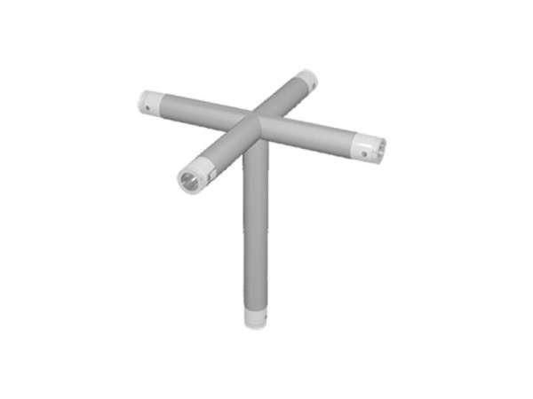 ExpoTruss X1K-5.0 Alu Rohr 4-Wege Kreuz mit Abgang