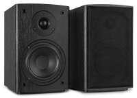 """Fenton SHF505B aktives 5,25"""" Hifi Regal-Lautsprecher Set mit Bluetooth und USB Media-Player Schwarz"""