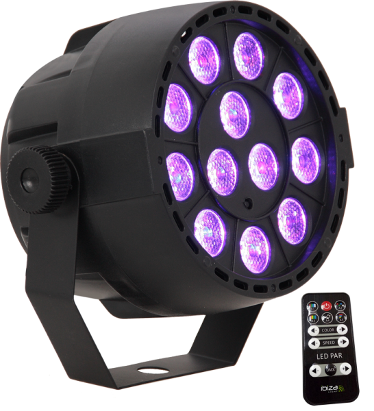 IBIZA LED PAR PARBAT-RGB3 12x3W Akku PAR Wiederaufladbar