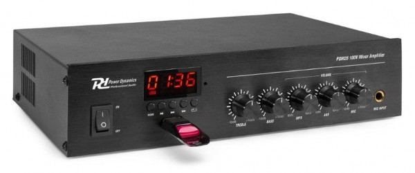Power Dynamics PDM25 100V Verstärker mit Mixer / Bluetooth / Mediaplayer