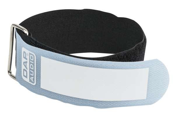 DAP-Audio Snap Fastener Kabelklettbänder mit Metallring - blau - breit