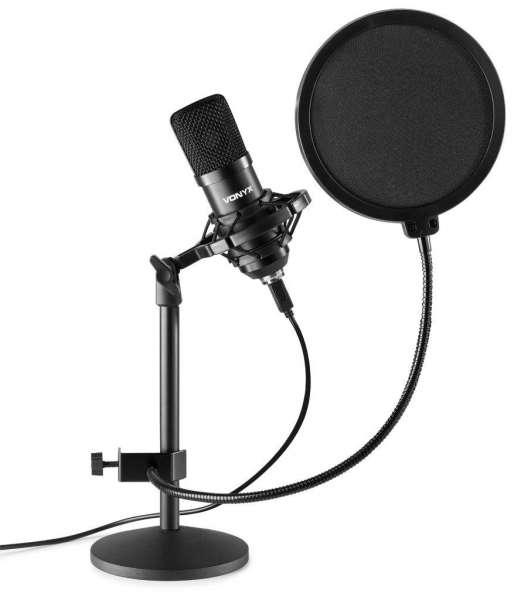 Vonyx CMTS300 USB Studio Mikrofon Set mit Tischstativ