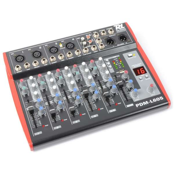 Power Dynamics PDM-L605 Musik Mixer 6-Kanal MP3/ECHO
