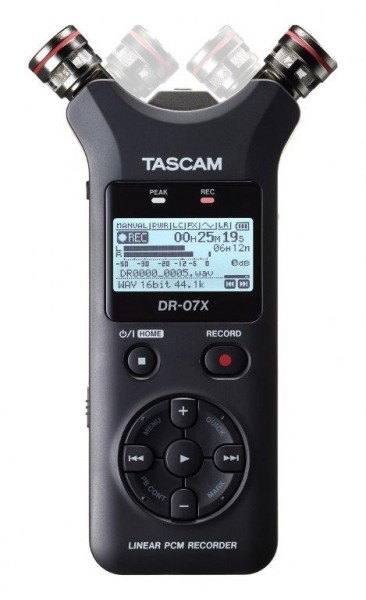 Tascam DR-07X - Tragbarer Stereo-Audiorecorder und USB-Interface