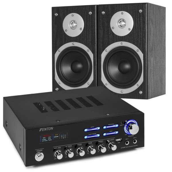 Fenton AV120BT Stereoanlage mit Bluetooth und USB Player