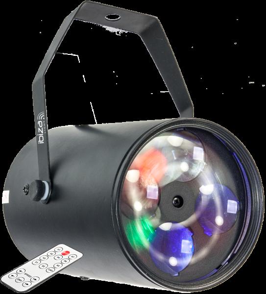IBIZA GOBO-RGBW12W RGBW LICHTEFFEKT MIT 4X 3W LEDS & 4 GOBOS