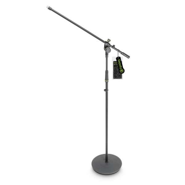 Gravity MS 2321 B Mikrofonständer mit Tellerfuß und 2-Punkt Galgen