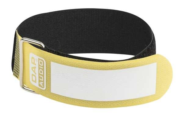 DAP-Audio Snap Fastener Kabelklettbänder mit Metallring - gelb - breit