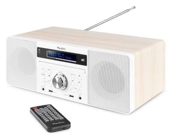 Audizio Prato Musik System mit DAB+ / FM Radio, CD-Player, Bluetooth, USB weiß