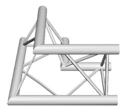 ExpoTruss X3K-30 Alu 3-Punkt 2Weg Winkel 90Grad H
