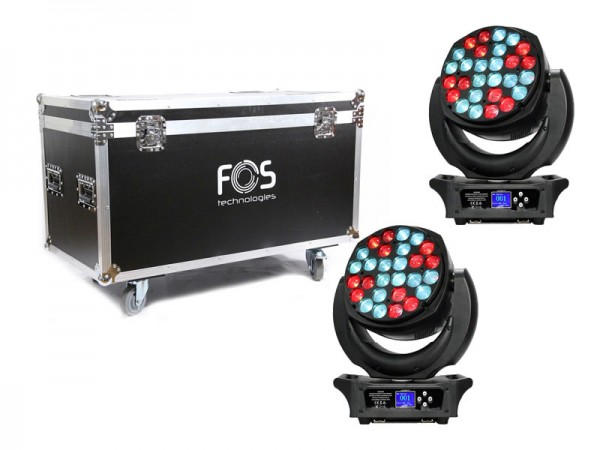 FOS Chameleon Wash SET Moving Head 2er Set + Case
