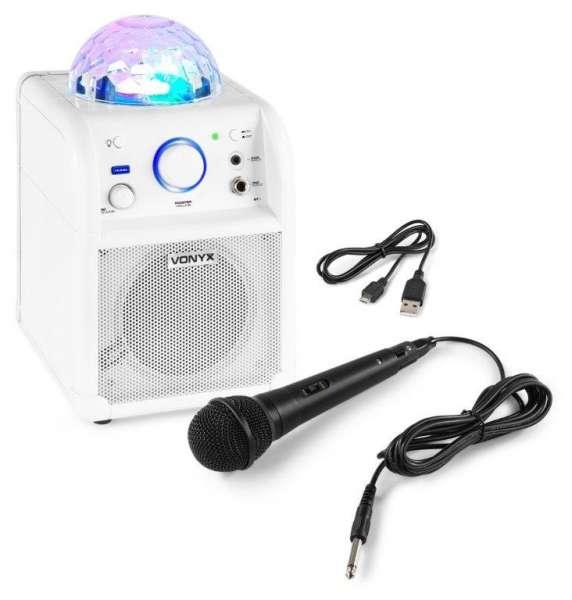 Vonyx SBS50 Bluetooth Karaoke Party-Würfel mit Akku weiß