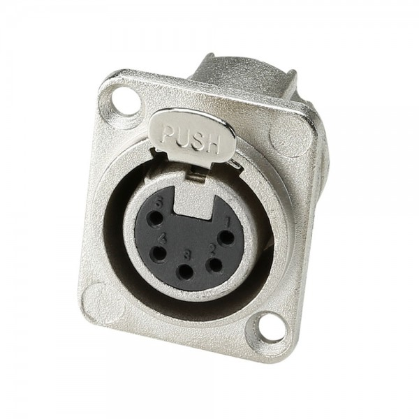 Adam Hall Connectors 7892 - Chassis connector XLR 5-PIN Female D-Typ