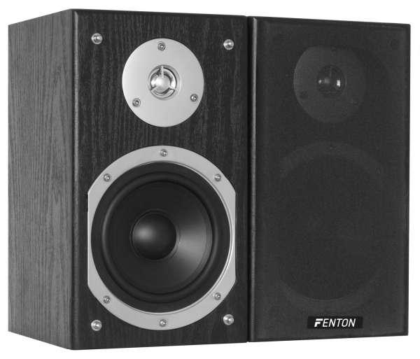 """Fenton SHFB55B Regal Lautsprecher Set schwarz 5"""""""
