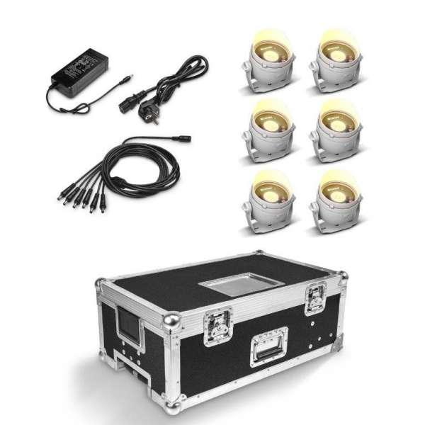 Cameo DROP B1 Touring Set weiß 6er Set inkl Flightcase mit Netzteil