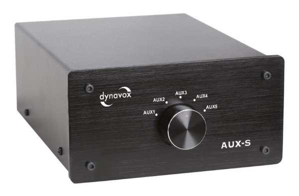 Dynavox Eingangs-Erweiterung/Umschalter schwarz Modell AUX-S