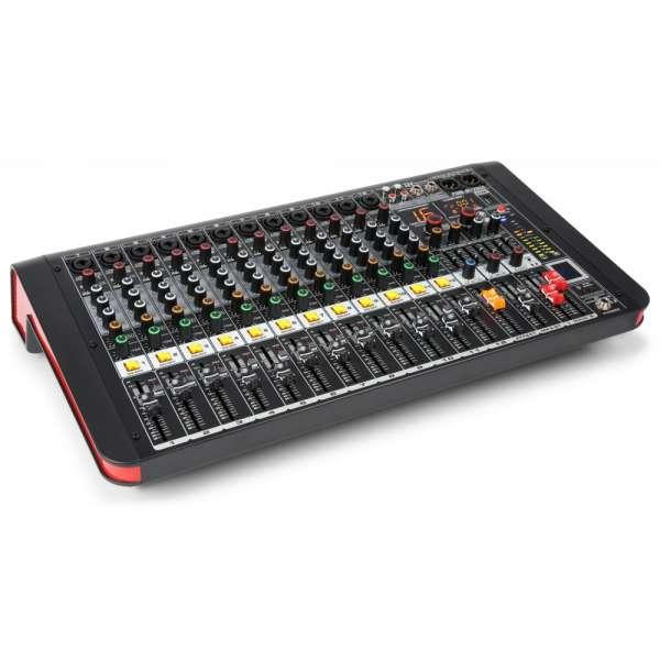 Power Dynamics PDM-M1204A 12-Kanal Musik Mixer mit Verstärker