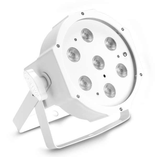 Cameo FLAT PAR 1 TW IR WH 7 x 4 W High Power FLAT Tunable White LED PAR-Scheinwerfer mit IR-Fernbedi