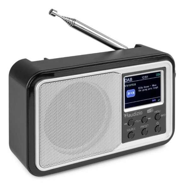 Audizio Anzio DAB+ Radio mit Akku und Bluetooth silber