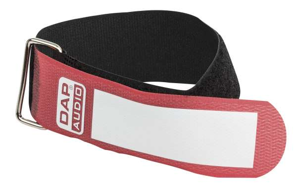 DAP-Audio Snap Fastener Kabelklettbänder mit Metallring - rot - breit