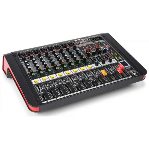 Power Dynamics PDM-M804A 8-Kanal Musik Mixer mit Verstärker