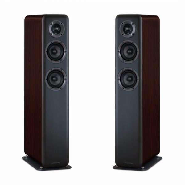 Wharfedale D330 2.5-Wege Lautsprecher (1 Paar Bassreflex Standlautsprecher Rosewood)