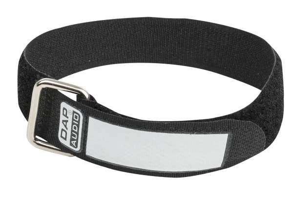DAP-Audio Snap Fastener Kabelklettbänder mit Metallring - schwarz - schmal