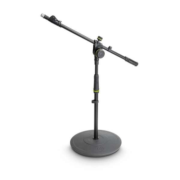 Gravity MS 2222 B Mikrofonständer kurz mit Tellerfuß und 2-Punkt Ausziehgalgen