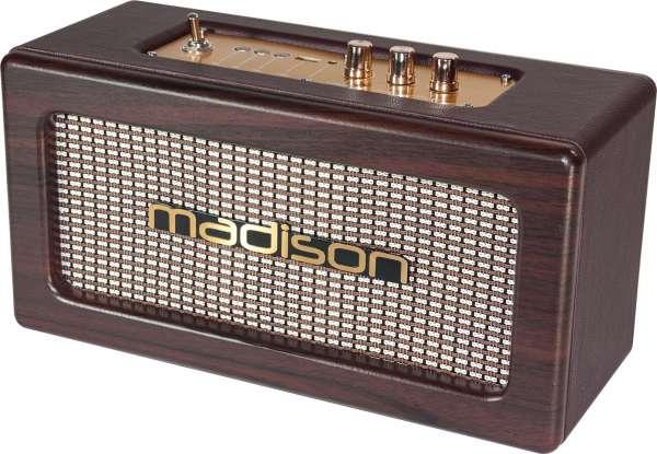 Madison Freesound Vintage WD Bluetooth Akku Lautsprecher mit USB Player