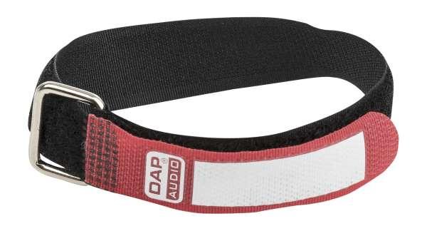DAP-Audio Snap Fastener Kabelklettbänder mit Metallring - rot - schmal