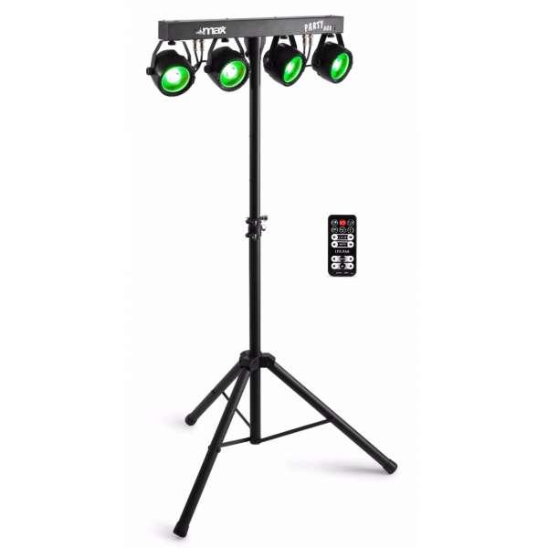 MAX Partybar 11 LED Lichtanlage mit 4 x 20W COB RGB