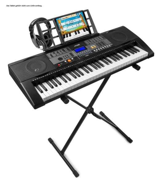 MAX KB3SET2 61-Tasten-Keyboard mit Anschlagsdynamik, Ständer und Kopfhörer