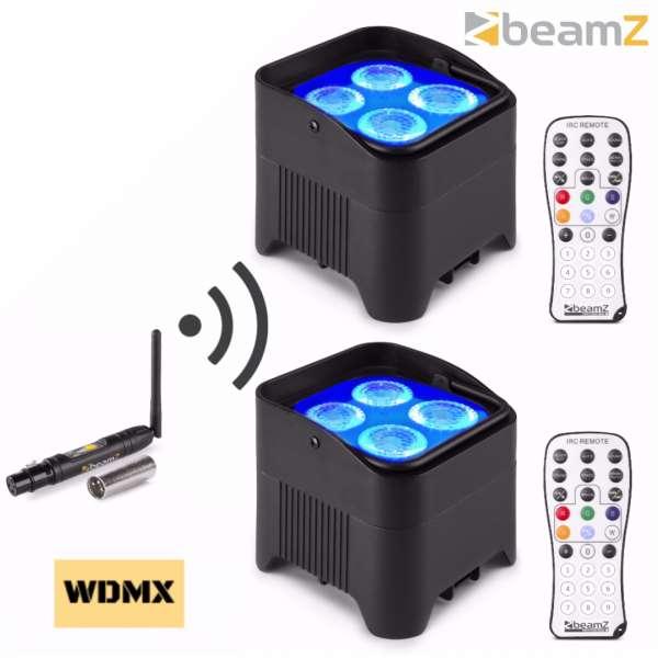 "BeamZ BBP94W Akku Uplighting Set ""Wireless Start"""