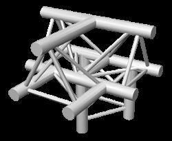 ExpoTruss X3K-30 Alu 3-Punkt 4-Weg T-Stück horizontal, Spi.oben