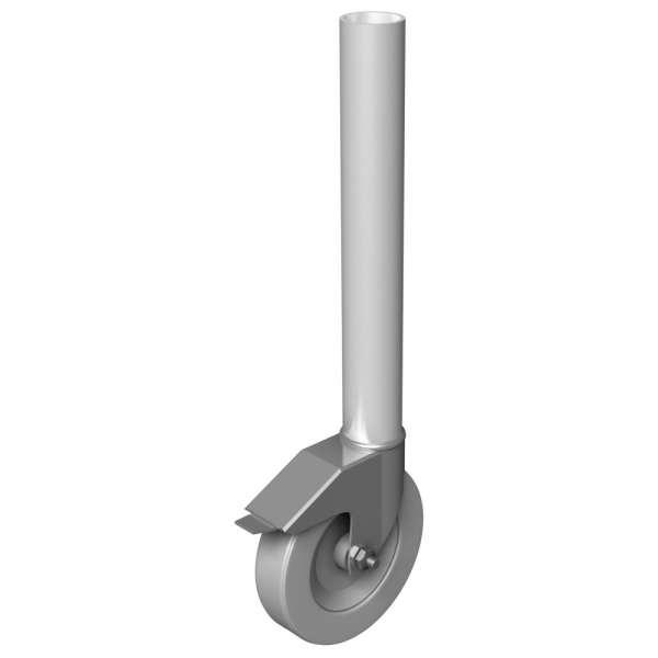 Power Dynamics Stage Round Leg runder Podestfuß mit gebremster Rolle 40cm