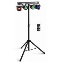 MAX Partybar 12 LED Lichtanlage mit 2 x Par und 2 x Derby