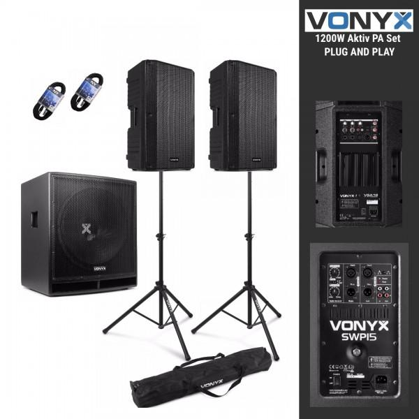 Vonyx 1512 Pro aktiv Entertainer PA Set