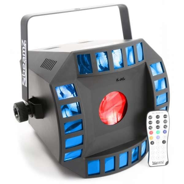BeamZ LED Cub4 II 2x10W Quad+64RGB+ DMXIR